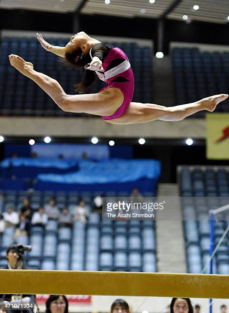 Natsumi Sasada competes in the Balance Beam during day two of the All Japan Artistic Gymnastics Individual All Around Championships at Yoyogi...