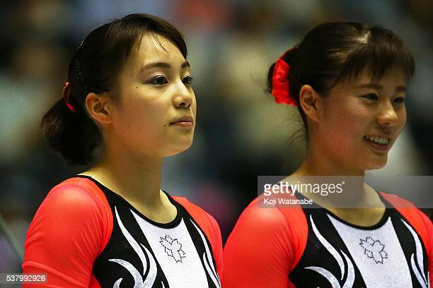 Natsumi Sasada competes looks on during the AllJapan Gymnastic Appratus Championshipsat Yoyogi National Gymnasium on June 4 2016 in Tokyo Japan