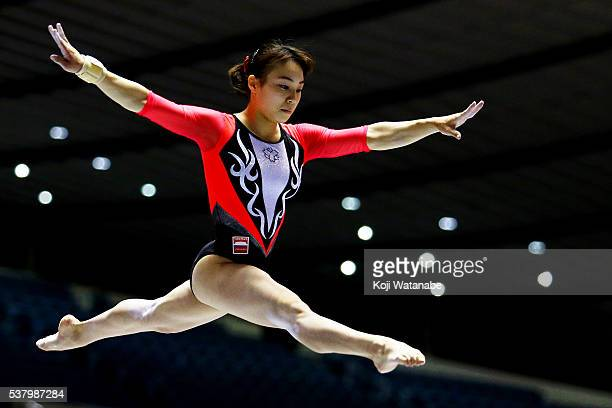 Natsumi Sasada competes on the beam during the AllJapan Gymnastic Appratus Championshipsat Yoyogi National Gymnasium on June 4 2016 in Tokyo Japan
