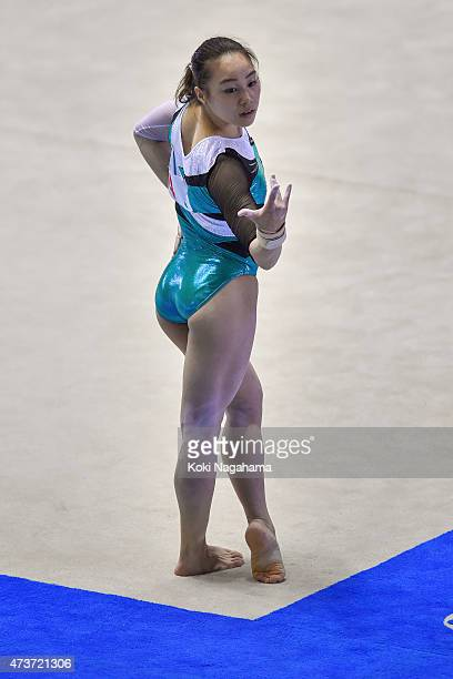 Natsumi Sasada competes on the Floor during the Artistic Gymnastics NHK Trophy at Yoyogi National Gymnasium on May 17 2015 in Tokyo Japan