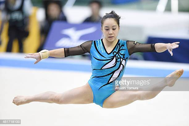 Natsumi Sasada of Japan competes in the Floor during the 68th All Japan Gymnastics Apparatus Championships on July 5 2014 in Chiba Japan