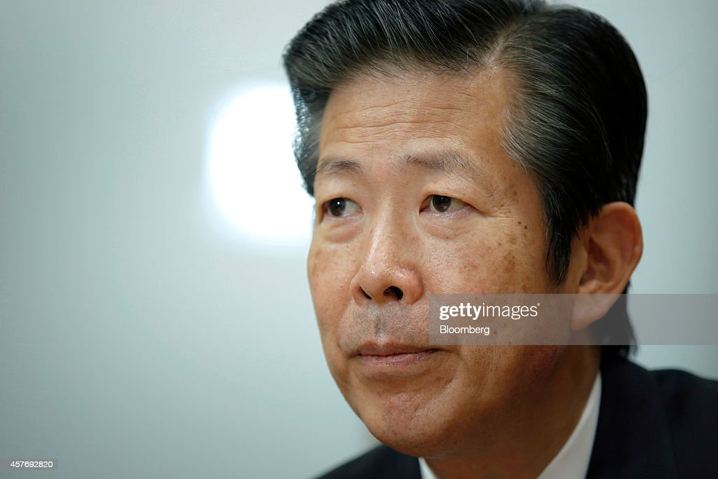 Natsuo Yamaguchi, chief representative of the New Komeito Party, listens during an interview in Tokyo, Japan, on Wednesday, Oct. 22, 2014. The party is Prime Minister Shinzo Abes Buddhist-backed junior coalition partner. Photographer: Kiyoshi Ota/Bloomberg via Getty Images