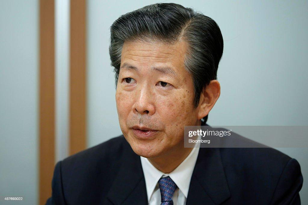 New Komeito Party Leader Natsuo Yamaguchi Interview : News Photo