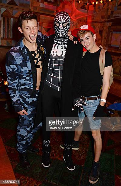Natt Weller and guests attend 'Death Of A Geisha' hosted by Fran Cutler and Cafe KaiZen with Grey Goose on October 31 2014 in London England