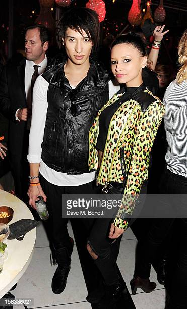 Natt Weller and Leah Weller attend the opening of new restaurant SushiSamba London in Heron Tower on November 13 2012 in London England
