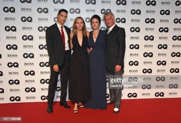 Natt Weller Dylan Weller Hannah Andrews and Paul Weller attend the GQ Men of the Year Awards 2018 in association with HUGO BOSS at Tate Modern on...