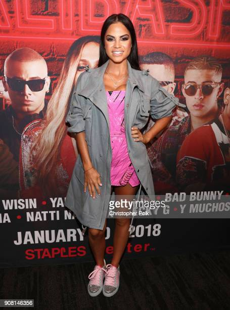 Natti Natasha attends Calibash Los Angeles 2018 at Staples Center on January 20 2018 in Los Angeles California