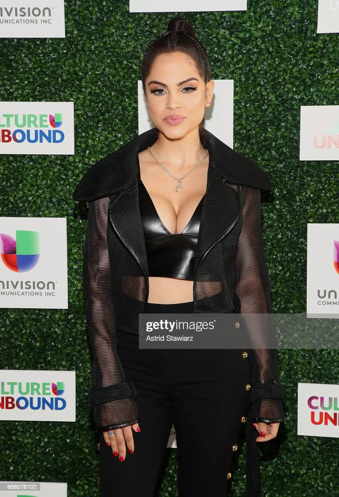 Natti Natasha attends the 2018 Univision Upfront at Spring Studios on May 14, 2018 in New York City.