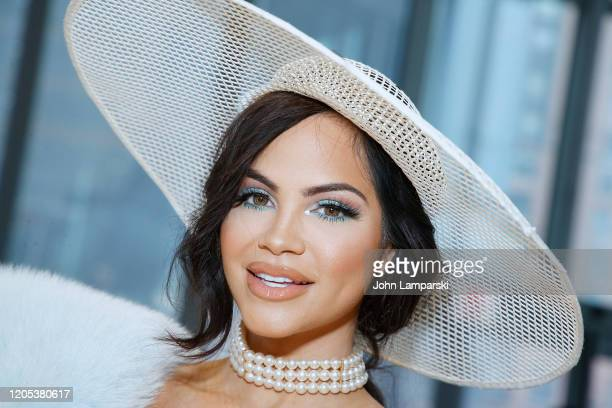 Natti Natasha attends the front row for Carolina Herrera during New York Fashion Week on February 10 2020 in New York City
