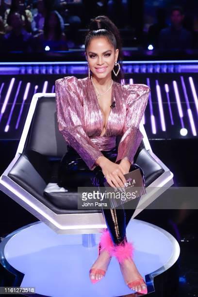 Natti Natasha attends Univision's Reina de la Cancion at Univision Studios on August 7 2019 in Miami Florida