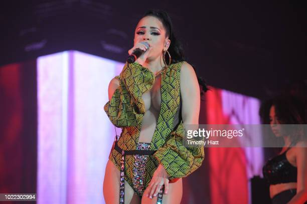 Natti Natasha performs onstage as Spotify Kicks Off ¡Viva Latino Live Concert Series in Chicago with Daddy Yankee Bad Bunny Becky G and Jowell Randy...