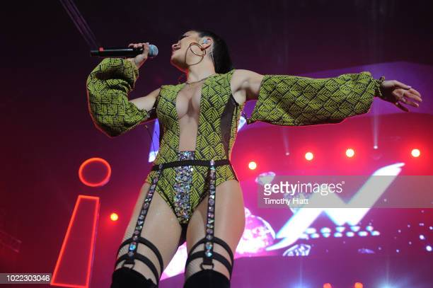 Natti Natasha performs onstage as Spotify Kicks Off ¡Viva Latino Live Concert Series in Chicago with Daddy Yankee Bad Bunny Becky G Jowell Randy at...