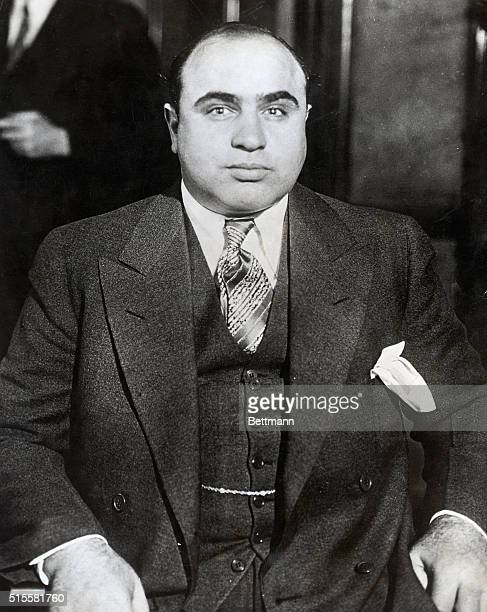 Nattily dressed Capone, who was the king of organized crime in Chicago during the late 1920s and early 1930s.