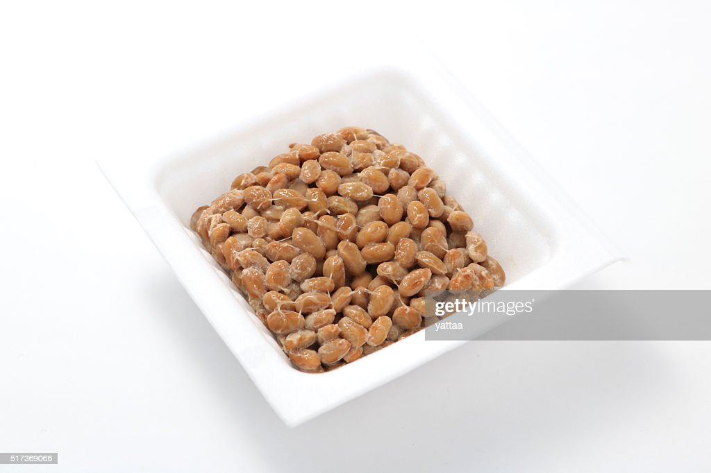 Natto, fermented soybeans : Stock Photo