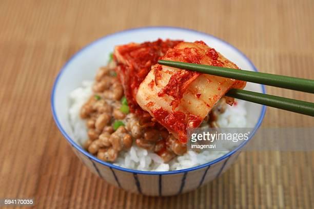 Natto with kimuchi