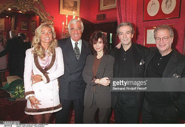 Natty Belmondo Paul Belmondo Evelyne Bouix Pierre Arditi Bernard Murat' at theParis Theatre Production Of Le Mari La Femme Et L'Amant