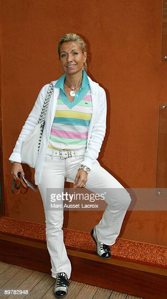 Natty Belmondo poses in the 'Village' the VIP area of the French Open at Roland Garros arena in Paris France on June 1 2007