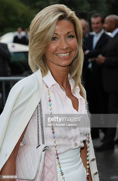 Natty Belmondo Tardivel arrives at Chanel Paris Fashion Week Haute Couture A/W 2009/10 at Grand Palais on July 7 2009 in Paris France