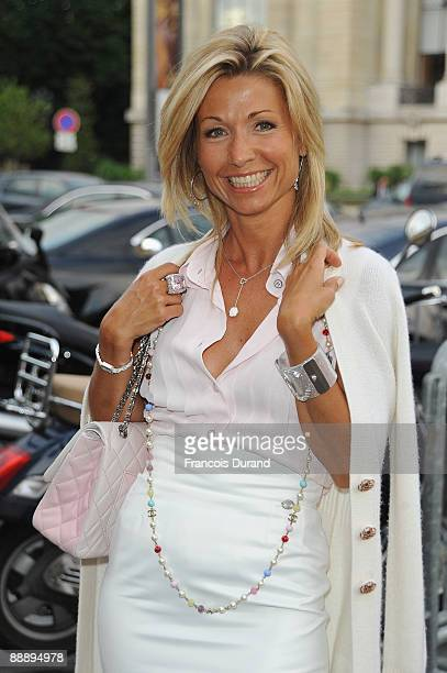 Natty Belmondo Tardivel arrives to attend the Chanel Fashion show as part of Paris Fashion Week Haute Couture A/W 2010 at the Grand Palais on July 7...