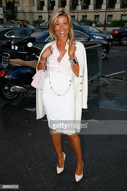 Natty Belmondo Tardivel attends the Chanel Paris Fashion Week Haute Couture A/W 2009/10 at Grand Palais on July 7 2009 in Paris France