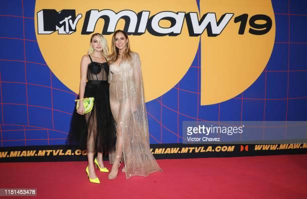 Natty Castro and Daniela Rueda attend the red carpet of the MTV MIAW Awards at Palacio de los Deportes on June 21 2019 in Mexico City Mexico