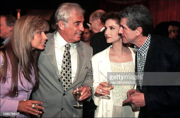 Natty JeanPaul Belmondo Alexandra Martinez Claude Lelouch in Paris France on April 09 1996