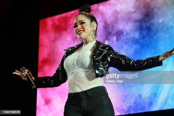 Natty Natasha perfoms during Kany Garcia concert Soy Yo at Coliseo Jose M Agrelot on February 2 2019 in San Juan Puerto Rico