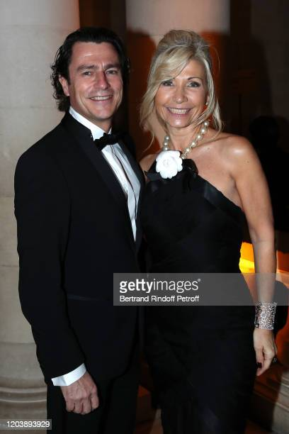 Natty Tardivel and a guest attend the 20th Gala Evening of the Paris Charter Against Cancer for the benefit of the International Institute of Cancer...