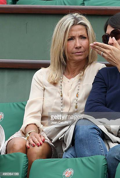 Natty Tardivel attends Day 9 of the French Open 2014 held at RolandGarros stadium on June 2 2014 in Paris France