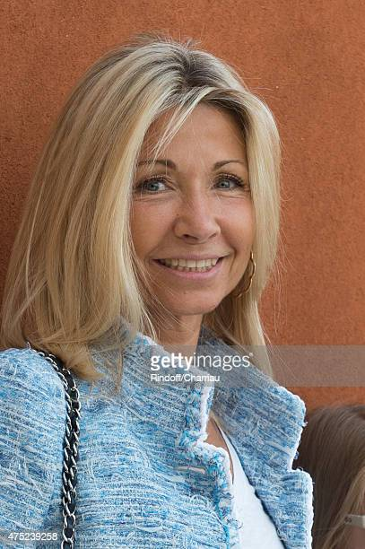 Natty Tardivel attends the French Open 2015 at Roland Garros on May 30 2015 in Paris France