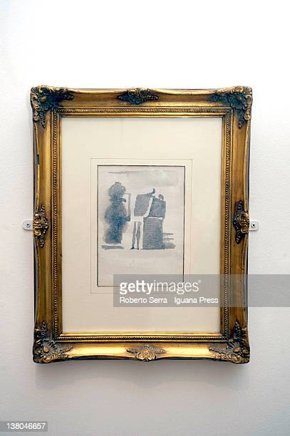 "Natura Morta SD"" watercolour in 1960 by italian painter Giorgio Morandi lends by Cristina and Giuliana Pavarotti to Morandi Museum on February 1,..."