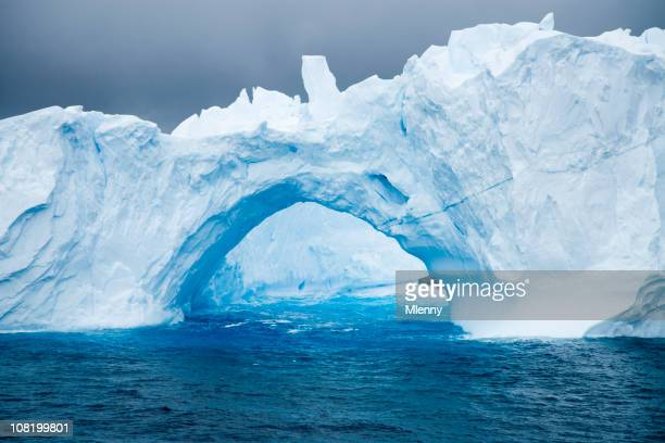 Natural Arch in Iceberg Antarctica