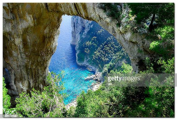 natural arch - capri stock pictures, royalty-free photos & images