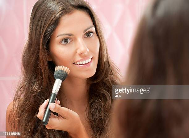 Natural beautiful Woman applying Make-Up (XXXL)
