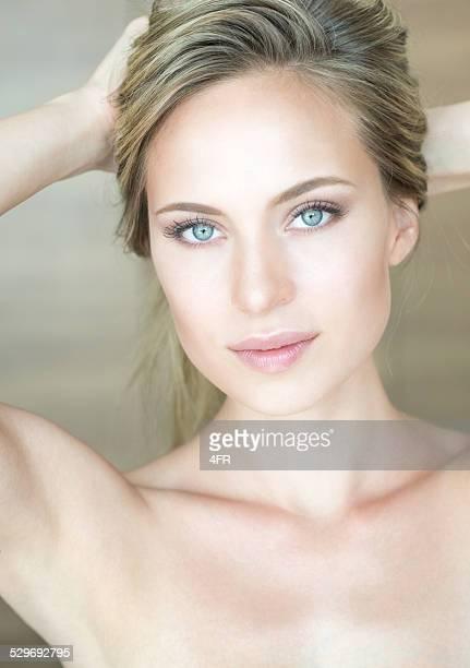 Natural Beautiful Woman, Portrait - Purity