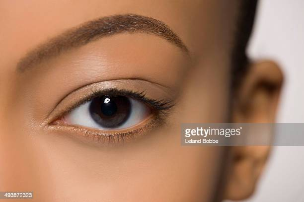 natural beauty - brown eyes stock pictures, royalty-free photos & images