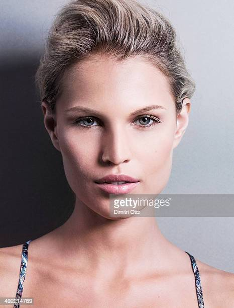 Natural beauty portrait of blonde model