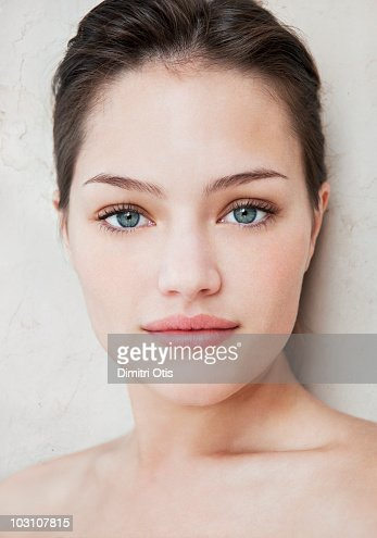 natural beauty portrait of young woman highres stock