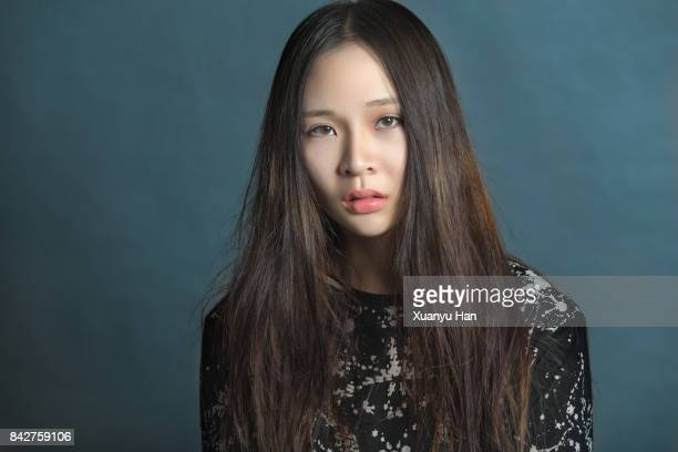 natural beauty portrait of young woman - asian model stock photos and pictures