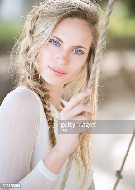 natural beauty portrait - green eyes stock pictures, royalty-free photos & images