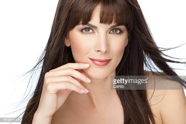 Natural Beauty Portrait With Hand