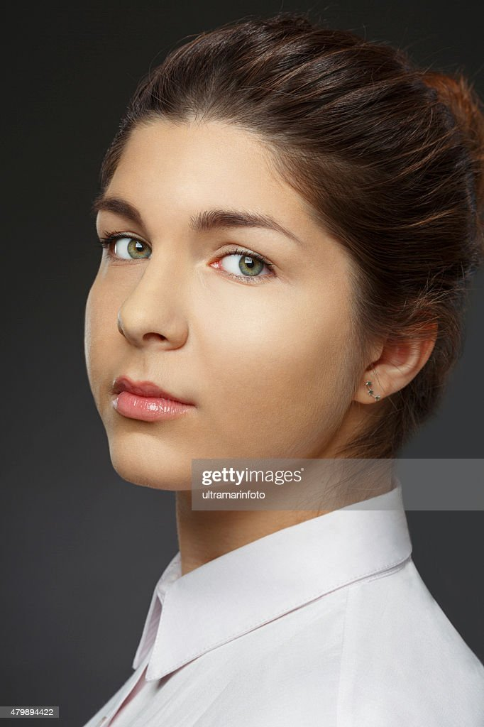 Natural Beauty Portrait   Young  Woman   Businesswoman : Stock Photo