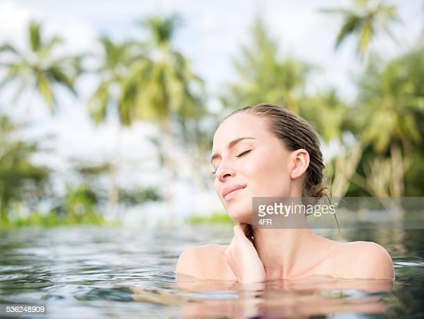 Natürliche Schönheit entspannenden in Tropical SPA
