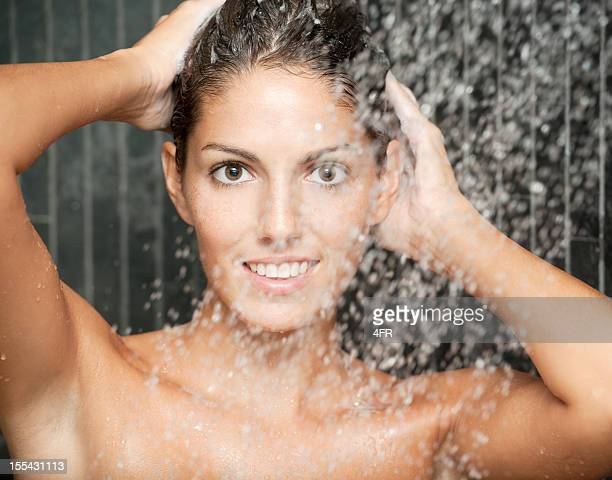 Natural Beauty relaxing under a hot shower (XXXL)