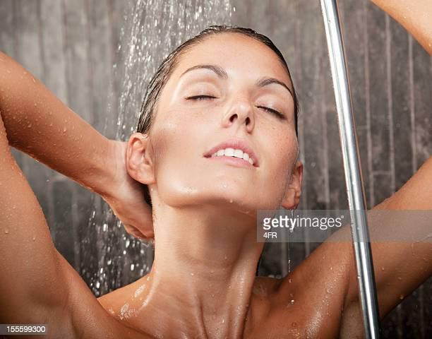 Natural Beauty relaxing under a hot shower (XXXL)