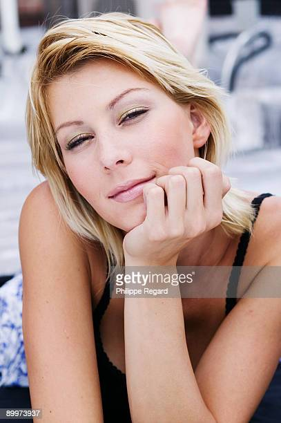 Natural beauty shot of young blond woman