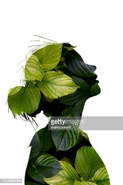 natural beauty women modern abstract digital art - illustration stock pictures, royalty-free photos & images