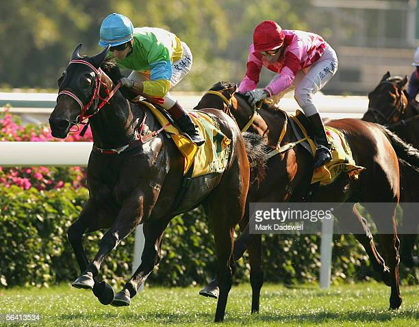 Natural Blitz ridden by Glynn Schofield wins the Cathay Pacific Hong Kong Sprint during the Cathay Pacific International Races at Shatin Racecourse...