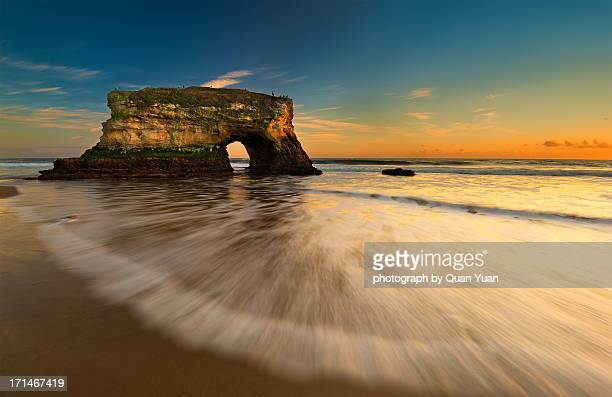 natural bridge sunset - yuan quan stock pictures, royalty-free photos & images