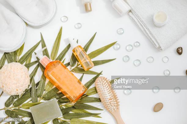 natural cosmetics ingredients for skincare, body and hair care - natural condition stock pictures, royalty-free photos & images